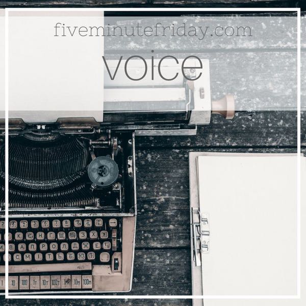 Voice - 31 Days of Five Minute Free Writes